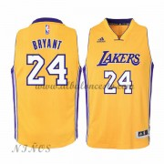 Camisetas Baloncesto Niños Los Angeles Lakers 2015-16 Kobe Bryant 24# Gold NBA Home..