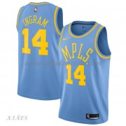 Camisetas Baloncesto Niños Los Angeles Lakers 2018 Brandon Ingram 14# Light Blue Hardwood Classics..