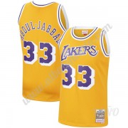 Camisetas NBA Niños Los Angeles Lakers 1984-85 Kareem Abdul-Jabbar 33# Oro Hardwood Classics Swingma..