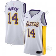 Camisetas NBA Niños Los Angeles Lakers 2019-20 Brandon Ingram 14# Blanco Association Edition Swingma..