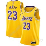 Camisetas NBA Niños Los Angeles Lakers 2019-20 LeBron James 23# Oro Icon Edition Swingman