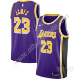Camisetas NBA Niños Los Angeles Lakers 2019-20 LeBron James 23# Púrpura Replica Statement Edition Swingman