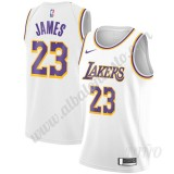 Camisetas NBA Niños Los Angeles Lakers 2019-20 LeBron James 23# Blanco Association Edition Swingman