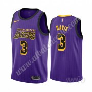 Camisetas NBA Niños Los Angeles Lakers 2019-20 Anthony Davis 3# Púrpura City Edition Swingman..