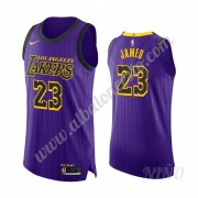 Camisetas NBA Niños Los Angeles Lakers 2019-20 LeBron James 23# Púrpura City Edition Swingman..