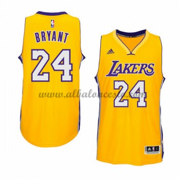 Camisetas Baloncesto NBA Los Angeles Lakers 2015-16 Kobe Bryant 24# Gold Home