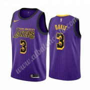 Camisetas Baloncesto NBA Los Angeles Lakers 2019-20 Anthony Davis 3# Púrpura City Edition Swingman..