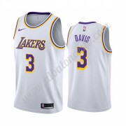 Camisetas Baloncesto NBA Los Angeles Lakers 2019-20 Anthony Davis 3# Blanco Association Edition Swin..