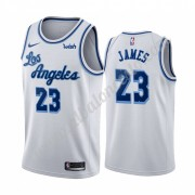 Camisetas Baloncesto NBA Los Angeles Lakers 2019-20 LeBron James 23# Blanco Classics Edition Swingma..