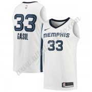 Camisetas Baloncesto NBA Memphis Grizzlies 2018  Marc Gasol 33# Association Edition..