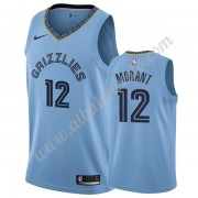 Camisetas Baloncesto NBA Memphis Grizzlies 2019-20 Ja Morant 12# Azul claro Statement Edition Swingm..