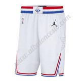 NBA 2019 Blanco All Star Game Swingman Pantalones Cortos De Baloncesto
