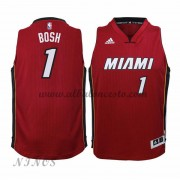 Camisetas Baloncesto Niños Miami Heat 2015-16 Chris Bosh 1# NBA Alternate..