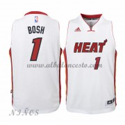 Camisetas Baloncesto Niños Miami Heat 2015-16 Chris Bosh 1# NBA Home..