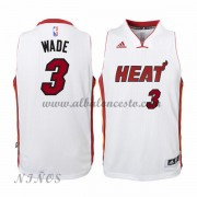 Camisetas Baloncesto Niños Miami Heat 2015-16 Dwyane Wade 3# NBA Home..