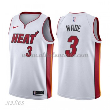 Camisetas Baloncesto Niños Miami Heat 2018 Dwyane Wade 3# Association Edition