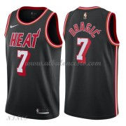 Camisetas Baloncesto Niños Miami Heat 2018 Goran Dragic 7# Black Hardwood Classics..
