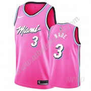 Camisetas NBA Niños Miami Heat 2019-20 Dwyane Wade 3# Rosado Earned Edition Swingman..
