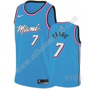 Camisetas NBA Niños Miami Heat 2019-20 Goran Dragic 7# Azul City Edition Swingman..