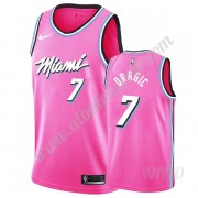 Camisetas NBA Niños Miami Heat 2019-20 Goran Dragic 7# Rosado Earned Edition Swingman..