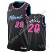Camisetas NBA Niños Miami Heat 2019-20 Justise Winslow 20# Negro City Edition Swingman..