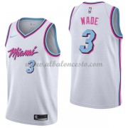 Camisetas Baloncesto NBA Miami Heat 2018  Dwyane Wade 3# City Edition..