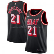 Camisetas Baloncesto NBA Miami Heat 2018  Hassan Whiteside 21# Black Hardwood Classics..