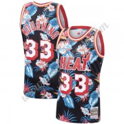 Camisetas Baloncesto NBA Miami Heat 1996-97 Alonzo Mourning 33# Floral Moda Hardwood Classics Swingm..