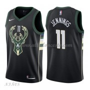 Camisetas Baloncesto Niños Milwaukee Bucks 2018 Brandon Jennings 11# Statement Edition..