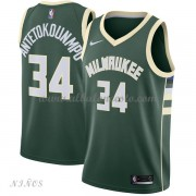 Camisetas Baloncesto Niños Milwaukee Bucks 2018 Giannis Antetokounmpo 34# Icon Edition..