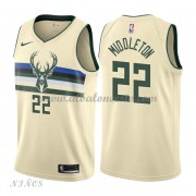 Camisetas Baloncesto Niños Milwaukee Bucks 2018 Khris Middleton 22# City Edition..