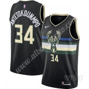 Camisetas NBA Niños Milwaukee Bucks 2019-20 Giannis Antetokounmpo 34# Negro Finished Statement Editi..