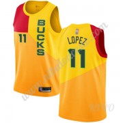 Camisetas NBA Niños Milwaukee Bucks 2019-20 Brook Lopez 11# Amarillo City Edition Swingman..