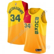 Camisetas NBA Niños Milwaukee Bucks 2019-20 Giannis Antetokounmpo 34# Amarillo City Edition Swingman..