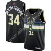 Camisetas Baloncesto NBA Milwaukee Bucks 2019-20 Giannis Antetokounmpo 34# Negro Finished Statement ..