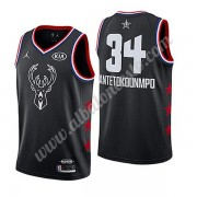 Camisetas NBA Baratas Milwaukee Bucks 2019 Giannis Antetokounmpo 34# Negro All Star Game Swingman..