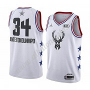 Camisetas NBA Baratas Milwaukee Bucks 2019 Giannis Antetokounmpo 34# Blanco All Star Game Swingman..