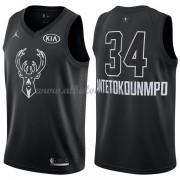 Milwaukee Bucks Giannis Antetokounmpo 34# Black 2018 All Star Game Swingman Basketball Jersey..