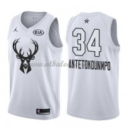 Milwaukee Bucks Giannis Antetokounmpo 34# White 2018 All Star Game Swingman Basketball Jersey..