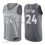 Camisetas Baloncesto Niños Minnesota Timberwolves 2018 Karl Justin Patton 24# City Edition..