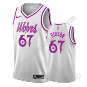Camisetas NBA Niños Minnesota Timberwolves 2019-20 Taj Gibson 67# Blanco Earned Edition Swingman..