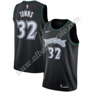 Camisetas Baloncesto NBA Minnesota Timberwolves 2019-20 Karl-Anthony Towns 32# Negro Hardwood Classi..