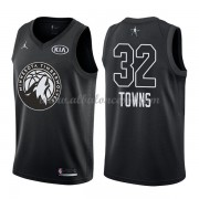 Minnesota Timberwolves Karl-Anthony Towns 32# Black 2018 All Star Game Swingman Basketball Jersey..