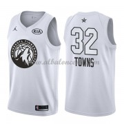 Minnesota Timberwolves Karl-Anthony Towns 32# White 2018 All Star Game Swingman Basketball Jersey..