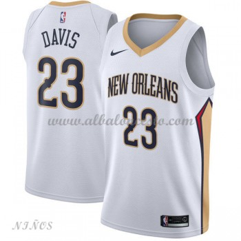Camisetas Baloncesto Niños New Orleans Pelicans 2018 Anthony Davis 23# Association Edition