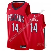 Camisetas NBA Niños New Orleans Pelicans 2019-20 Brandon Ingram 14# Rojo Statement Edition Swingman..