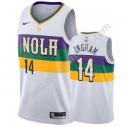 Camisetas Baloncesto NBA New Orleans Pelicans 2019-20 Brandon Ingram 14# Blanco City Edition Swingma..
