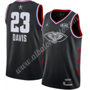Camisetas NBA Baratas New Orleans Pelicans 2019 Anthony Davis 23# Negro Finished All-Star Game Swing..