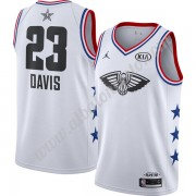 Camisetas NBA Baratas New Orleans Pelicans 2019 Anthony Davis 23# Blanco Finished All-Star Game Swin..