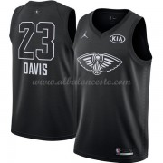 New Orleans Pelicans Anthony Davis 23# Black 2018 All Star Game Swingman Basketball Jersey..